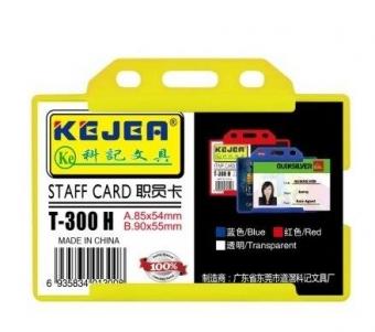 Suport PP-PVC rigid, pentru ID carduri, 85 x 54mm, orizontal, 5 buc/set, KEJEA - transparent