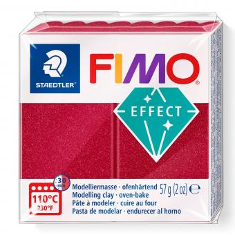 Plastilina Fimo efect. ruby red metall Cod 8020-28
