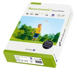 Hartie A4 reciclata pentru copiator Recyconomic Classic White