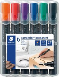 Marker Staedtler Lumocolor ST-352-WP6 permanent, 6/set (R,N,A,V,P,V)