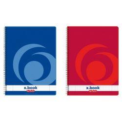 Caiet A5 80 file HERLITZ cu spira, X.Book Dictando/Matematica, 70g colturi rotunjite
