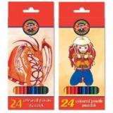 Creioane color 24 culori, design Monstri Spatiali, Koh-i-Noor