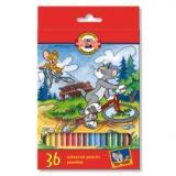 Creioane colorate Koh-i-Noor 36 culori/set Tom si Jerry, Monstri spatiali