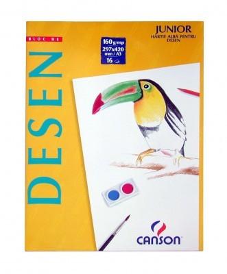 Bloc Desen Canson A3 160g/mp 16 file