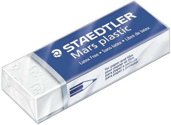 Radiera creion Mars plastic 65*23*13mm alba, Staedtler