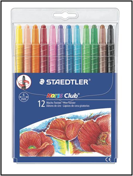 Creioane color cerate TWISTER 12 /set  221 NWP12