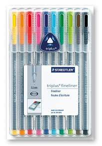 Fineliner triplus Staedtler 334 10/set