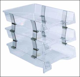 Tavite documente A4 set compact 3 etaj Transparent