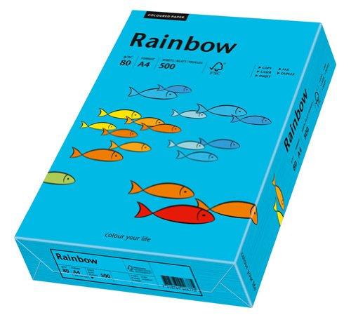 Hartie color RAINBOW  , A4, 80 g/mp, 500 coli/top, Albastru (Blue)