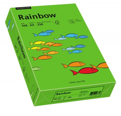 Hartie color RAINBOW  , A4, 80 g/mp, 500 coli/top, Verde Intens (Intensive Green)