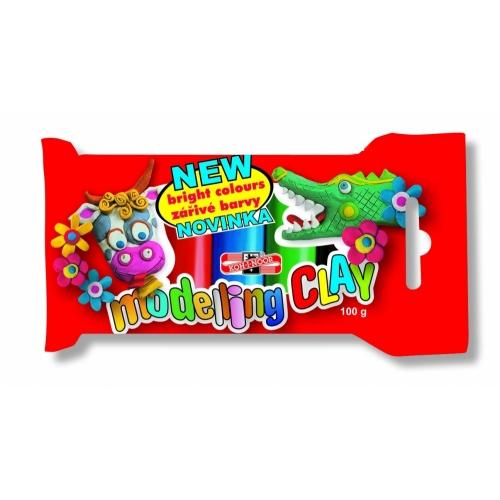 Plastilina Koh-i-noor 100g, 5 culori