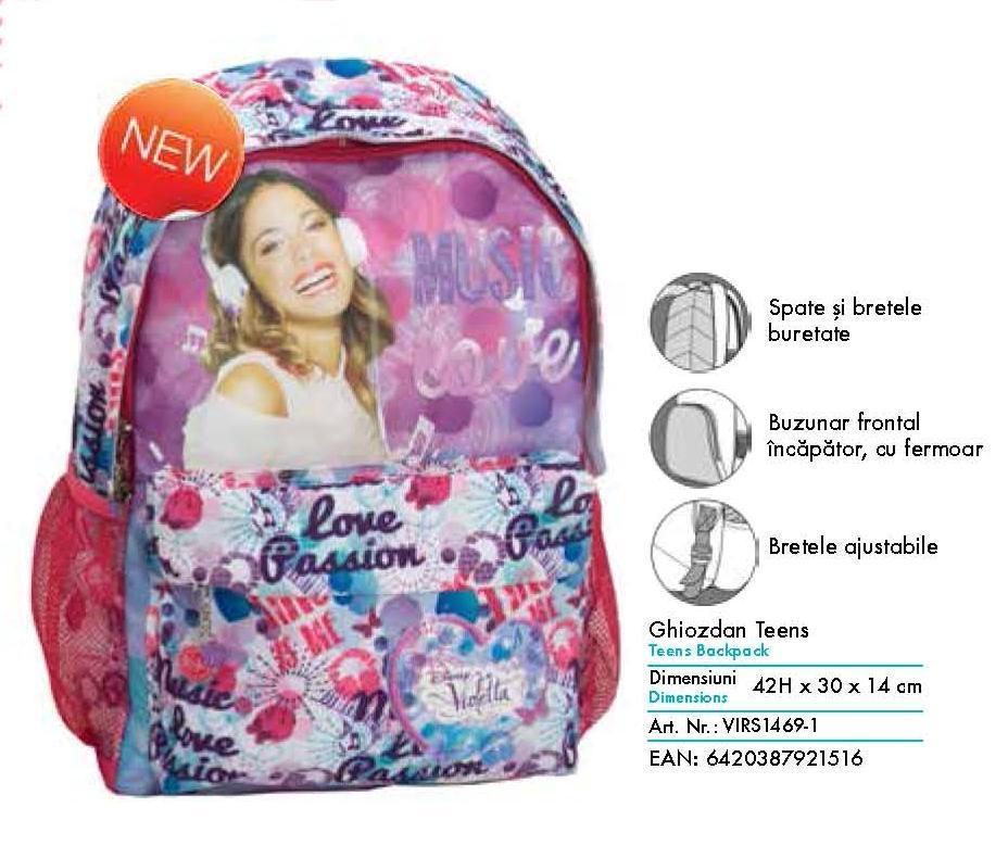 Ghiozdan scolar Violetta pentru clasa 1-4 Pigna model VIRS1467-1