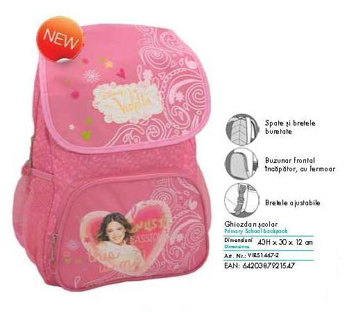 Ghiozdan scolar Violetta pentru clasa 1-4 Pigna model VIRS1467-2