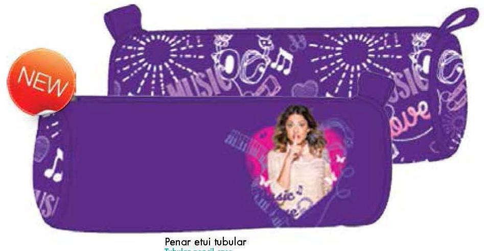 Penar Etui Tubular, Neechipat Pigna Violetta, 1 fermoar, Model VIPE1414-3