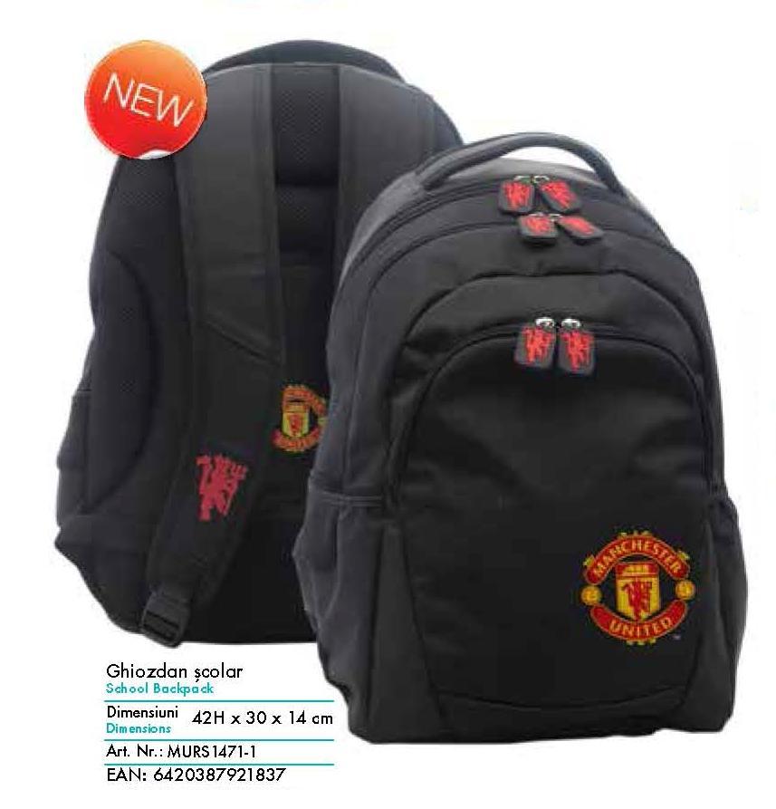Ghiozdan Gimnaziu Manchester United, Pigna model MURS1471-1