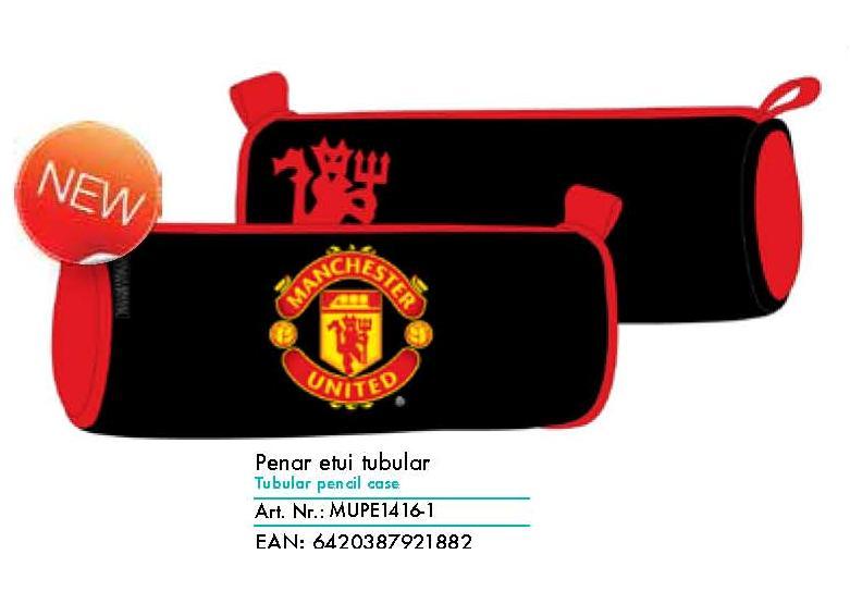 Penar Etui Tubular, Neechipat Pigna Manchester United, 1 fermoar, Model MUPE1416-1