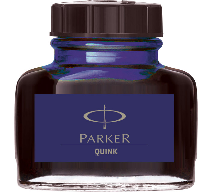 Albastru inchis permanent  Parker Calimara Quink