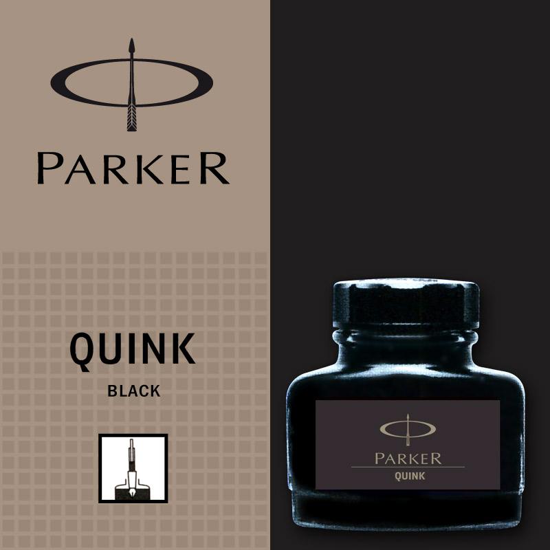 Negru permanent  Parker Calimara Quink