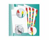 Separator plastic EXXO - A4 10 (5*2 culori)  culori