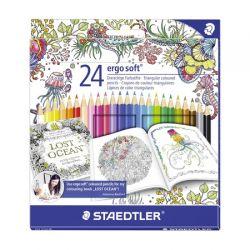 Set ST-157 C24JB creioane colorate Ergo Soft Adult Coloring Staedtler 24/set