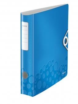 Biblioraft LEITZ Active Wow 180, A4, 50 mm, polyfoam - albastru metalizat