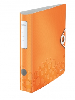 Biblioraft LEITZ Active Wow 180, A4, 50 mm, polyfoam - portocaliu metalizat
