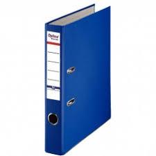 Biblioraft A4, plastifiat PP/paper, margine metalica, 75 mm, Optima Basic - albastru