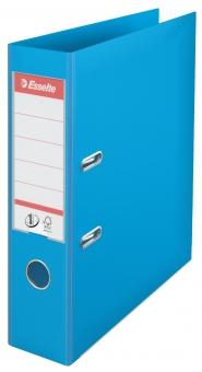 Biblioraft ESSELTE No. 1 Power, A4, plastifiat PP/PP, margine metalica, 75 mm - cyan