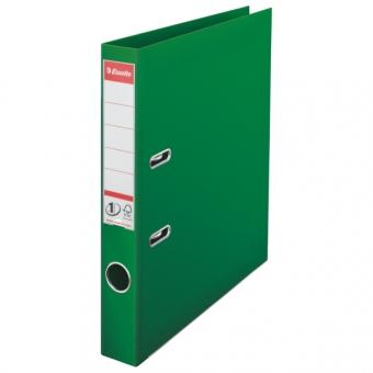 Biblioraft ESSELTE No. 1 Power, A4, plastifiat PP/PP, margine metalica, 50 mm - verde