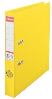 Biblioraft ESSELTE No. 1 Power, A4, plastifiat PP/PP, margine metalica, 50 mm - Vivida galben
