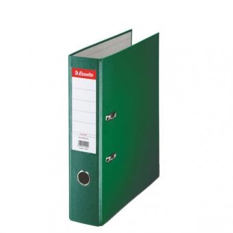 Biblioraft ESSELTE Economy, A4, plastifiat PP, margine metalica, 75 mm - verde