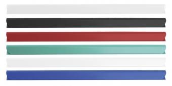 Bagheta A4 de legat documente,  6 mm, 10/set, DONAU - transparent