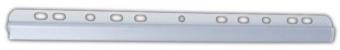 Bagheta A4 de legat documente, 6 mm, cu perforatii, 10/set, DONAU - transparent