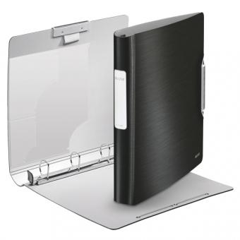 Caiet mecanic LEITZ Active Style SoftClick, mecanism 4DR, inel 30mm, polyfoam - negru satin