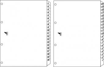 Index reversibil numeric 1-20/20-1, A4, carton alb 190g/mp, KANGARO Easy Move