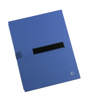 Dosar extensibil din carton rigid, cu 3 pliuri, banda velcro, capacitate 1100 file, JALEMA - albastr