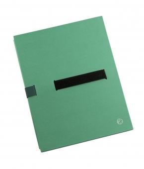 Dosar extensibil din carton rigid, cu 3 pliuri, banda velcro, capacitate 1100 file, JALEMA - verde