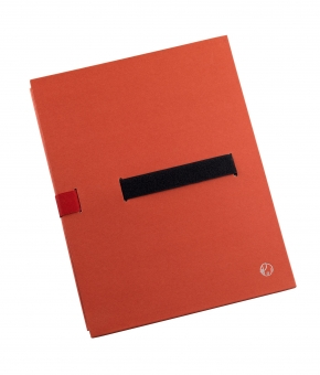 Dosar extensibil din carton rigid, cu 3 pliuri, banda velcro, capacitate 1100 file, JALEMA - rosu