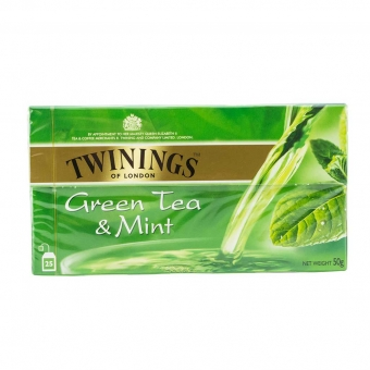 Ceai TWININGS - CEAI VERDE CU AROMA MENTA, 25 GPV x1.5g