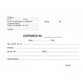 Chitantier autocopiativ , format A6, 2 ex. 50set/carnet