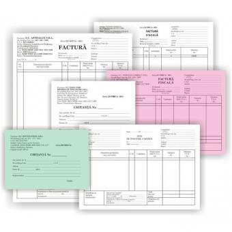 Facturi fiscale, A4, 3ex. ,autocopiative