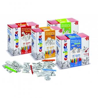 Set articole creative CARIOCA Maxi Puzzle - City & Jungle