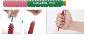 Creion mecanic ARTLINE Stix, 0.5mm - verde/roz