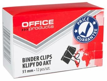 Clip hartie 51mm, 12buc/cutie, Office Products - negru