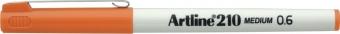 Liner ARTLINE 210, varf fetru 0.6mm - portocaliu