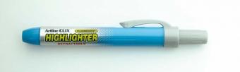 Textmarker ARTLINE Clix, mecanism retractabil, varf tesit 4.0mm - albastru deschis