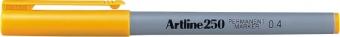 Permanent marker ARTLINE 250, corp plastic, varf rotund 0.4mm - galben