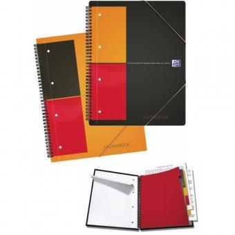 Caiet cu spirala A5+, OXFORD Int. Notebook, 80 file-80g/mp, 10 perf., coperta carton rigid - dictand