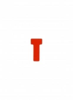 JALEMA T-cards, din hartie, 100buc/set, format 1 - (55 x 15mm, top 27mm)  - rosu